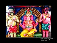 Ganesh with his guards