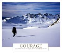 Courage - Only when we are no longer afraid.