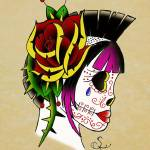 """punk sugar skull"" by S_F"