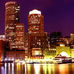 """Boston Panoramic City View at Night"" by gmrshots"
