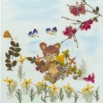 """Teddy among flowers"" by EcoArt"
