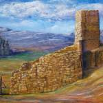 """Southwest Art; Crumbling Old Mission"" by Lenora"