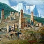 """""""An Old Chechenyan Village - Vaharsolt Balatkhanov"""" by Differentartists"""