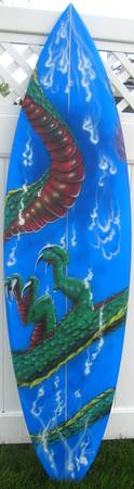 Dragon Surf Board by Darren Sears, Artist