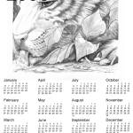"""Tiger sketch Original by Darren Sears, Artist"" by artbydnd"
