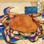 """Dungeness On Tile"" by whimrab"