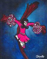 magenta cheerleader