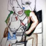 """Collage- Woman Sitting"" by matthewstitt49259"
