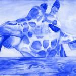 """giraffe"" by grayeyesart"