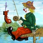"""Clancy D Clown Fisherman"" by LeonD"
