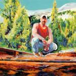 """Right on Track, Portrait of Mark"" by BeaconArtWorksCorporation"