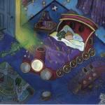 """Night Night"" by Rachelpeglerartworks"