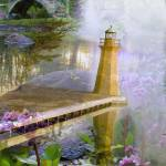 """""""Here, too, appear the lighthouses of the mind"""" by Dwiggs"""