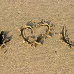 """i love you in sand Devon England March 06 070"" by Rhubarbandcustard"