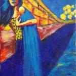 """Girl Marti, Acrylic 7 x 5 $75.00"" by jennygini"