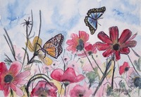 flowers and butterflies 2