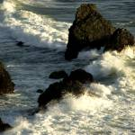 """Sea over rocks in the Californian coast"" by leofleck"