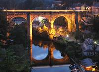 The Last Train across Knaresborough Viaduct