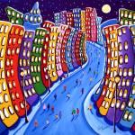 """""""Funky Cityscape"""" by reniebritenbucher"""