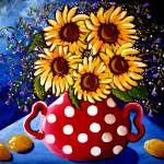 """Sunflower Still Life"" by reniebritenbucher"