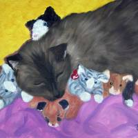 dash&beanies Art Prints & Posters by Tracey Allyn Greene
