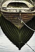 Dark Wooden Boat