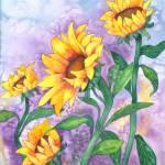 """Sunny Sunflowers"" by foxvox"