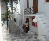 Paros - Pink shop window