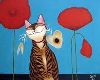 Catmasutra - Sniffing the kenzo flower