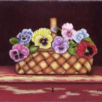"""Basket Of Pansies"" by farrellart"