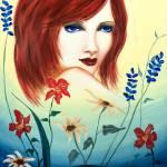 """""""Flower Girl, Acylic 24 x 18"""" by jennygini"""