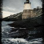 """Stormy Castle Hill Light House"" by metzgarpaul"
