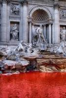 Trevi Fountain red