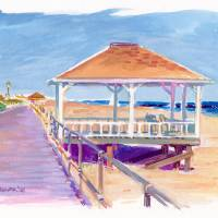 """Spring Lake New Jersey Gazebo"" by ShorePainter"