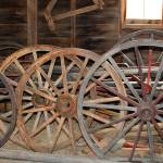 """Wagon Wheels, 1880 Town"" by imagesbydevra"