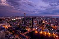 Melbourne Skyline and Southbank at Sunset