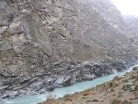 Indus River in Rondo Valley Skardu, Beautifull Bal