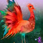 """Flamboyant Paradise- Bird"" by sylvestra"