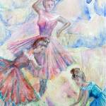 """217 Three Ballerinas"" by FrankGonzalesArt"