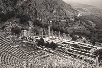 Temple of Apollo and Theatre, Delphi 1960 Sepia