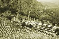 Temple of Apollo and Theatre, Delphi 1960 Yellow