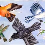 """""""Six Birds Fly Up Above"""" by clovia"""