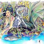 """""""regal mermaid at her sanctuary"""" by Cicada"""