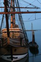 mayflower II at dusk