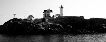 Lighthouse; near Kennebunkport, Maine