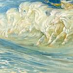 """Study for The Horses of Neptune - Walter Crane"" by rimages"
