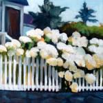 """""""The Hydrangea Fence I"""" by CorrineBongiovanni"""