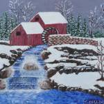 """Old Grist Mill in Winter"" by marycollins"