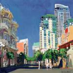 """Island Street San Diego by RD Riccoboni"" by BeaconArtWorksCorporation"