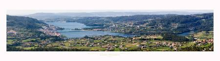 Panoramic view of Ria de Ares, Galicia Spain